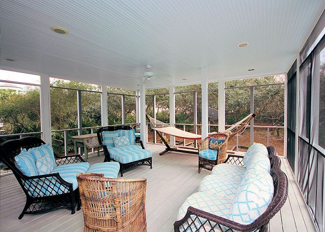 Downstairs Screened Porch with Swing