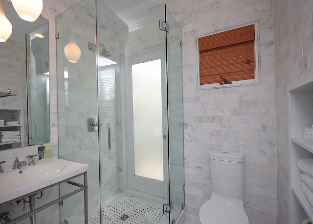 Newly Renovated Bathroom on Main Level with Custom Shower