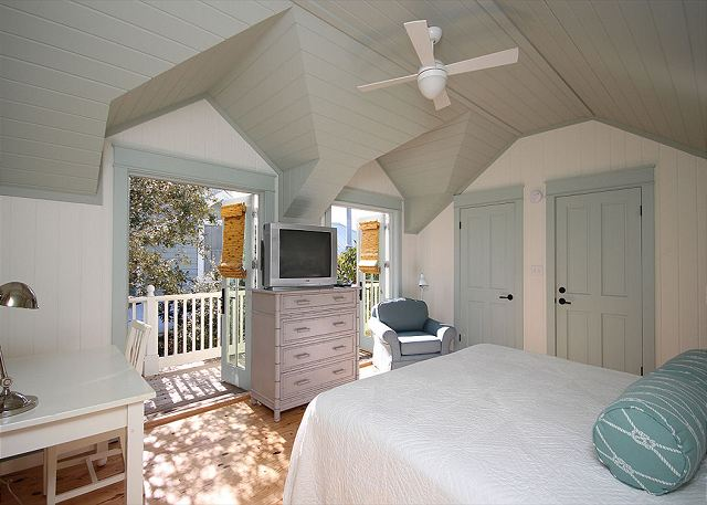 Upstairs King Master Suite with Private Balcony