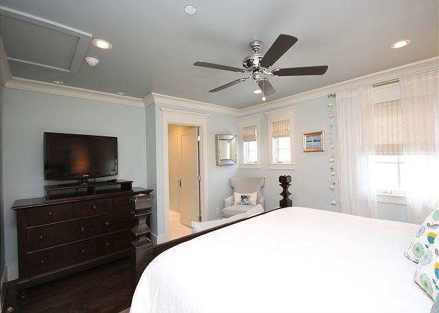 Alternate View of Master Suite with Flat Screen & Private Bath