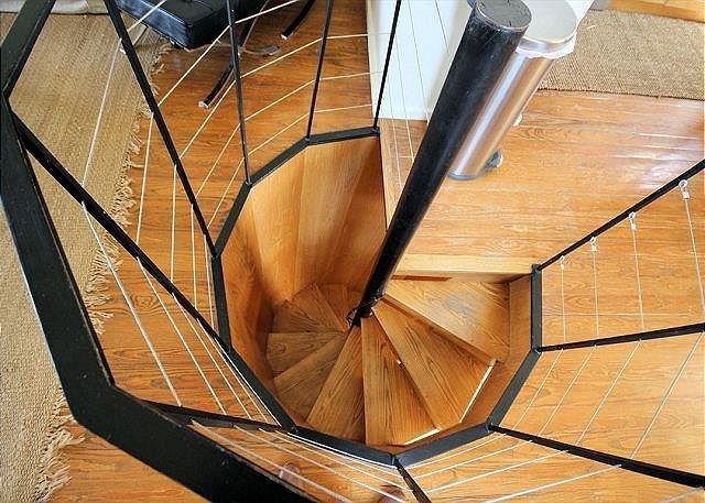 Spiral Staircase to Downstairs Master