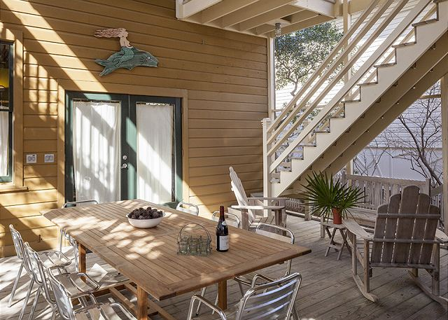 At the heart of Pleasure Principal is an inviting screened porch