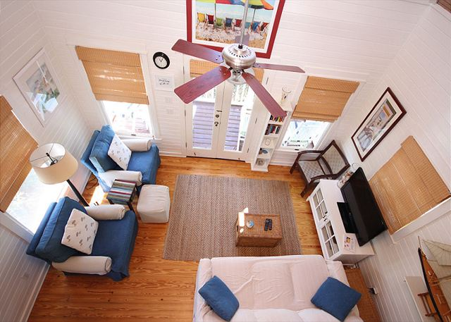 View of Living Room from Lofted Bedroom