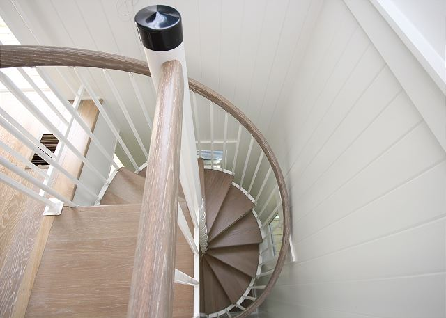 Spiral Staircase to Upstairs Living Space