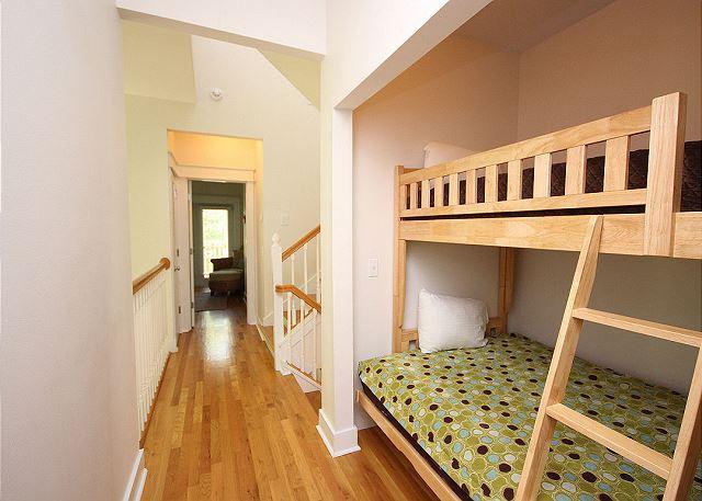 Built-In Bunks in Upstairs Hallway (sleeps 2)