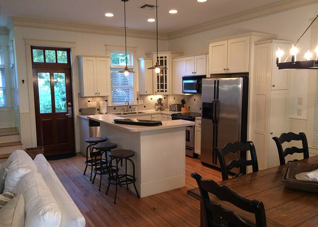 Gourmet Stainless Kitchen & Dining Space