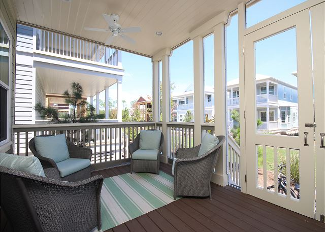 Front Screened Porch Living