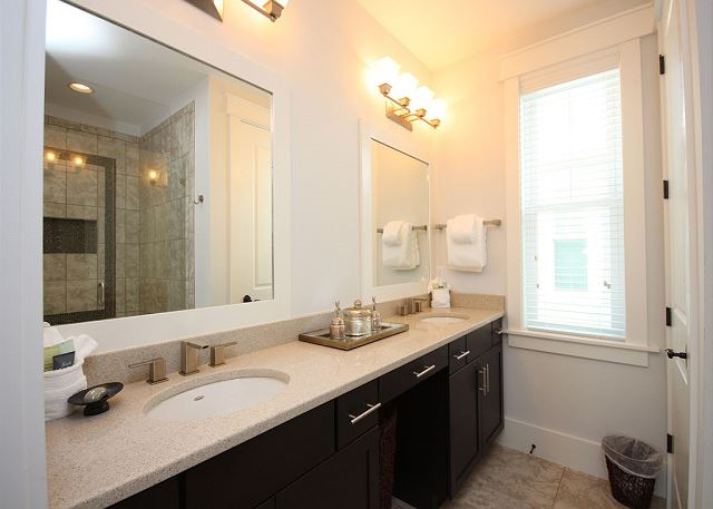 Master Bathroom with Dual Sinks (Shower Only)