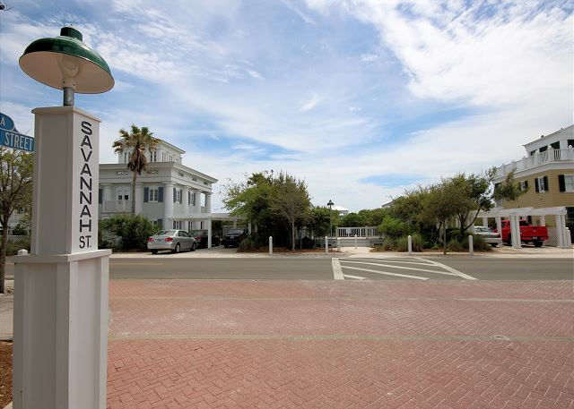 Right Across from Savannah Pavilion with Private Beach Access