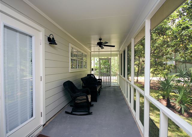 Private Side Screened Porch