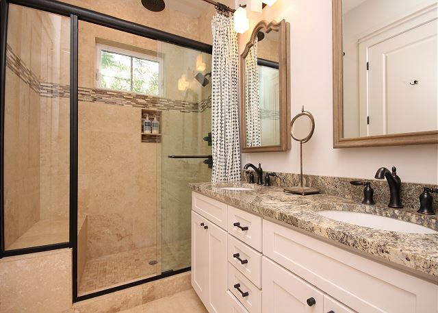 Master Bath with Dual Sinks & Shower only