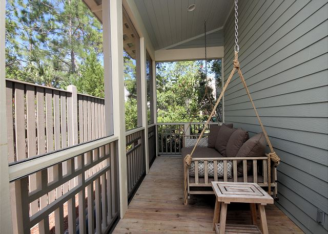 Upstairs Screened Porch with Swing
