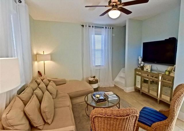 Living Room with Flat Screen TV & Sectional