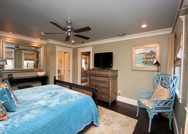 Alternate View of Master Suite with Flat Screen TV