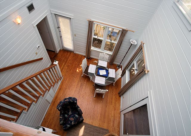 View of Living/Dining from Loft