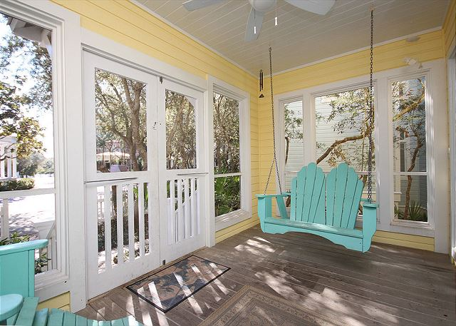 Screened Front Porch with Swing