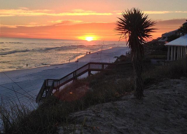 Sun setting on the Emerald Coast
