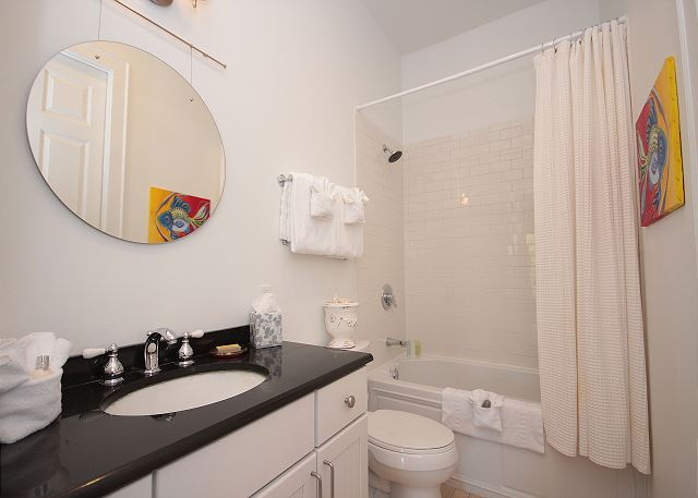 Guest Bath off Twin Guestroom (bath/shower combo)