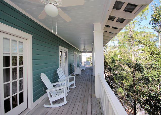 Upstairs Balcony with Porch Swing