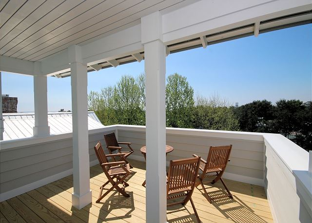 Enjoy views of the water from your private tower!