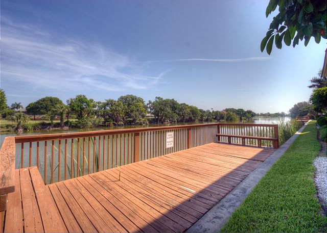 Deck overlooking Sanibel River