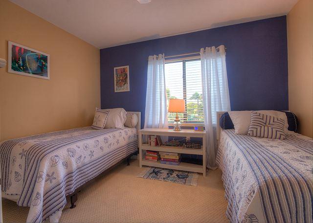 Guest bedroom, 2 twin beds, TV