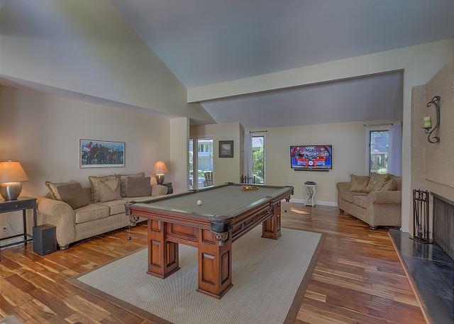Billiard Room with Flat Screen TV