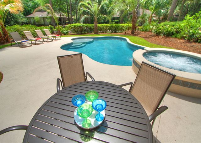 The Pool offers a serene & private setting
