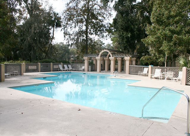 Colonnade Club 196 - On Site Pool measures 21' x 62' - HiltonHeadRentals.com