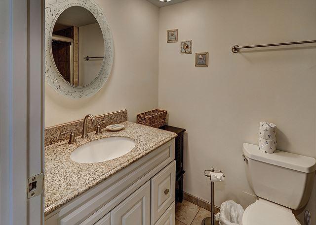 Ocean One 407 - Master Bath with Walk-In Shower - HiltonHeadRentals.com