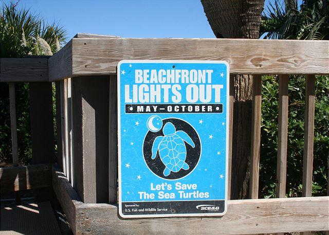 Ocean One 407 - Sea Turtle Season runs May thru October - HiltonHeadRentals.com