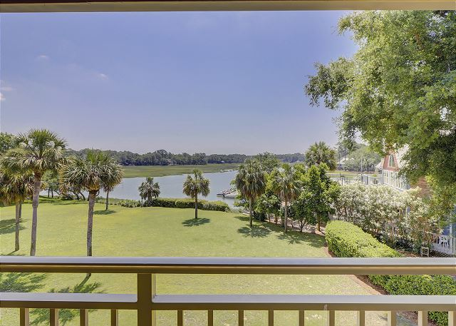 Bluff Villas 1817 - View from Your Private Balcony - HiltonHeadRentals.com