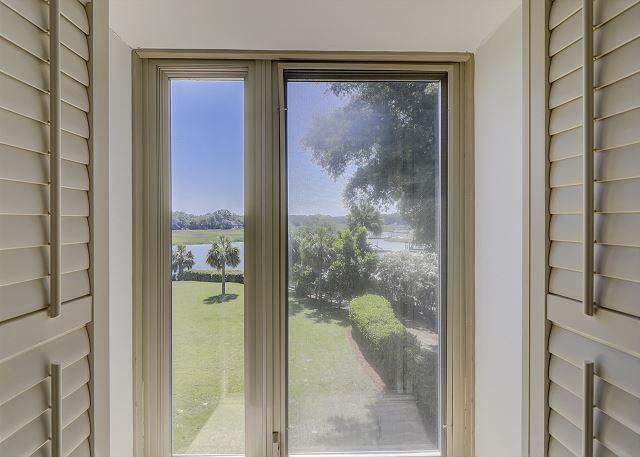Bluff Villas 1817 - View from Bedroom 2 - HiltonHeadRentals.com