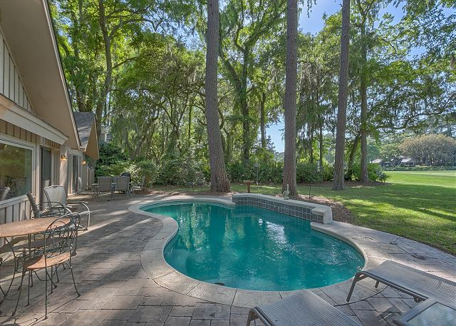Battery 21 - Private Pool measures 12' x 22' & can be heated for a fee - HiltonHeadRentals.com