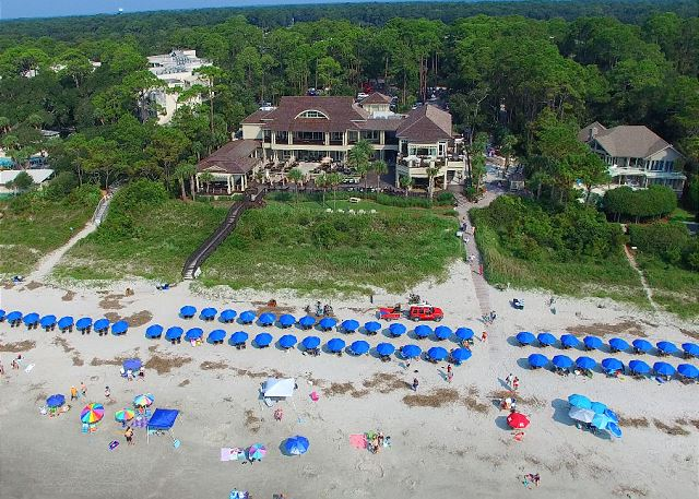 Bike or take the FREE Trolley to the Sea Pines Beach Club