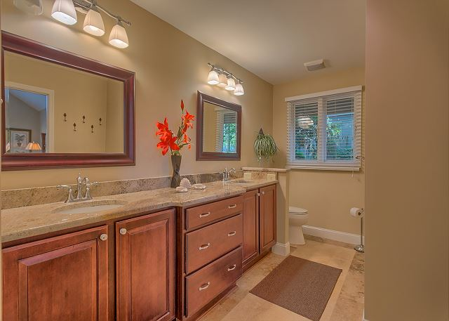 Battery 21 - Master Bath with Double Sinks & Shower - HiltonHeadRentals.com