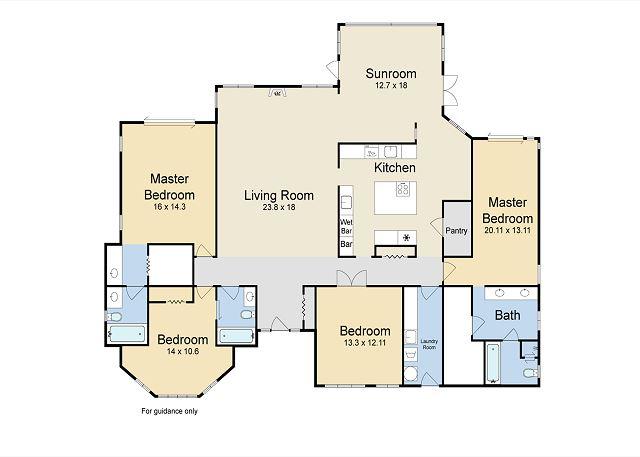 Battery 25 - Floor Plan - HiltonHeadRentals.com