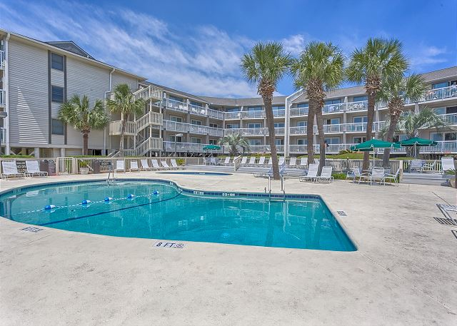 Breakers 219 - Pool measures 20' x 35' - HiltonHeadRentals.com