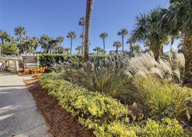 Captains Walk 481 - Beautiful Landscaped Grounds - HiltonHeadRentals.com