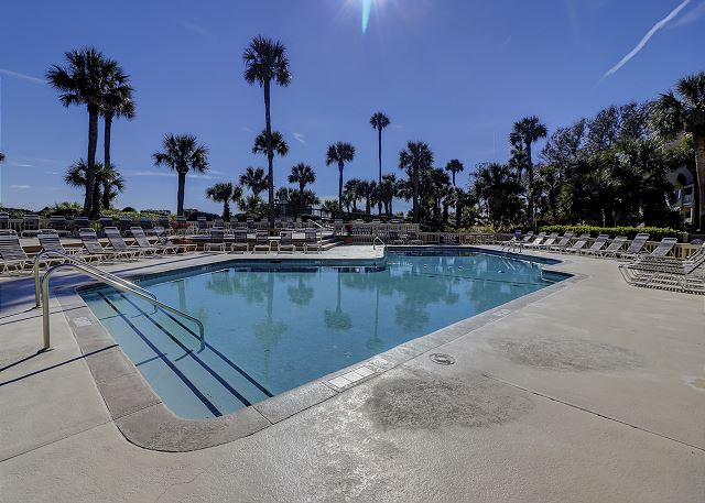 Captains Walk 481 - Oceanfront Pool measures 22' x 50' - HiltonHeadRentals.com