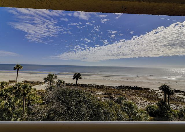 Captains Walk 481 - View from Private Oceanfront Balcony - HiltonHeadRentals.com