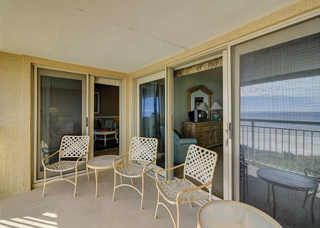 Captains Walk 481 - Balcony - HiltonHeadRentals.com