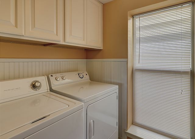 Captains Walk 481 - Laundry Room - HiltonHeadRentals.com