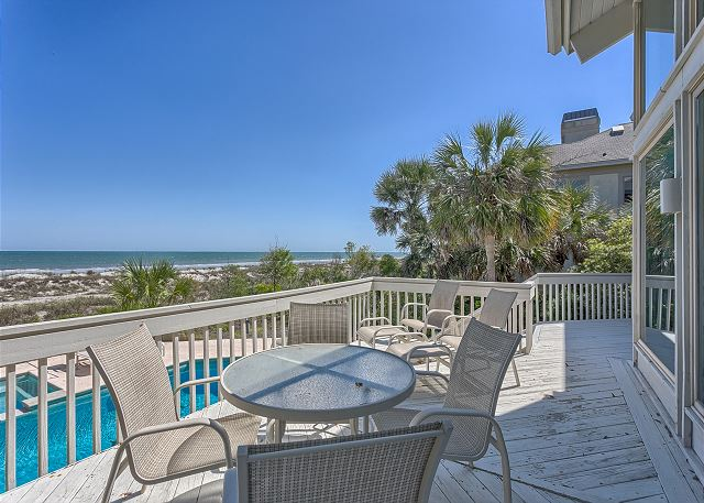 Oceanfront Deck off Living Room