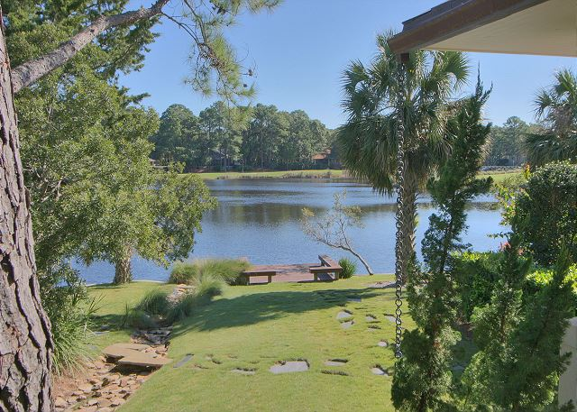 Full Sweep 16 - View to Private Dock - HiltonHeadRentals.com