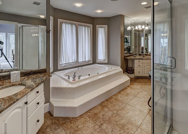 Master Bath with Jacuzzi Tub & Shower