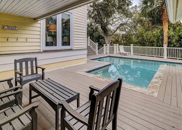 Sandpiper 30 - Private Pool can be heated for a fee - HiltonHeadRentals.com