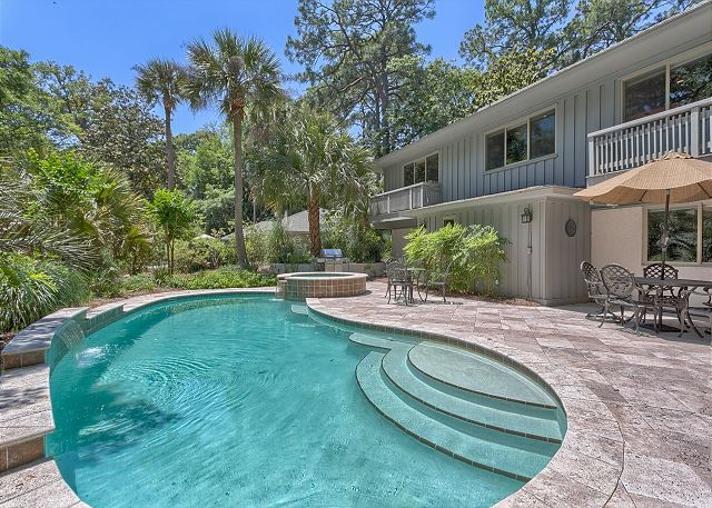 Surf Scoter 12 - Private Pool & Spa can be Heated for a fee - HiltonHeadRentals.com