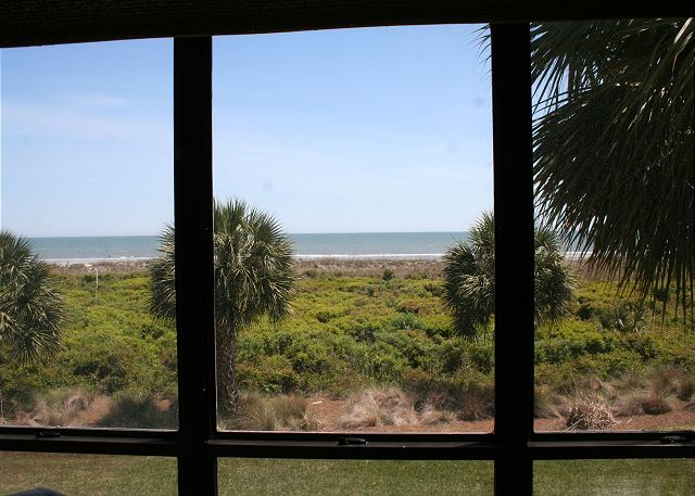 Shorewood 203 - Oceanfront Views from Living Room Windows - HiltonHeadRentals.com