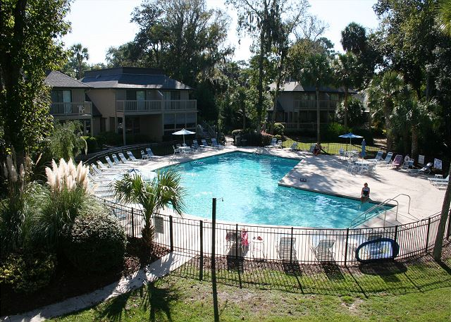 Tennismaster 302 - On Site Pool measures 26' x 52' - HiltonHeadRentals.com